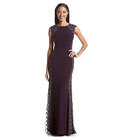 Xscape Lace Sides Longer Gown