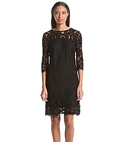 Taylor Dresses Lace Shift Dress