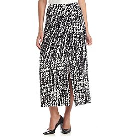 Kasper® Abstract Sarong Skirt