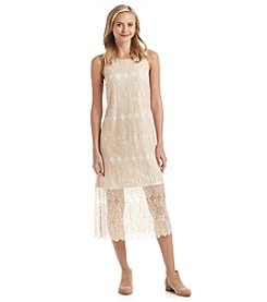 Kensie® Dainty Lace Overlay Midi Dress