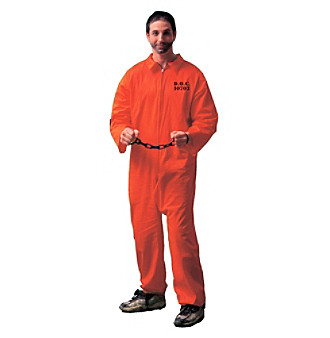 Orange Jumpsuit Adult Costume