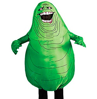 Ghostbusters™ Inflatable Slimer Adult Costume