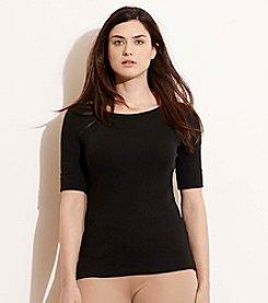 Lauren Ralph Lauren® Plus Size Stretch Cotton Boatneck Tee