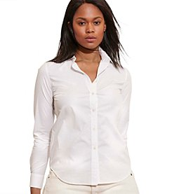 Lauren Ralph Lauren® Plus Size Cotton Shirt