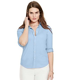 Lauren Ralph Lauren® Plus Size Cotton Pique Shirt