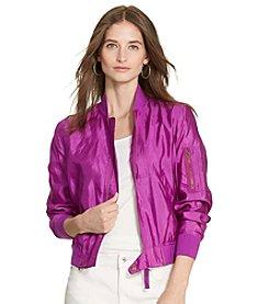 Lauren Ralph Lauren® Petites' Silk Bomber Jacket
