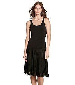 Lauren Ralph Lauren® Petites' Drop-Waist Pleated Dress