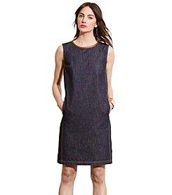 Lauren Ralph Lauren® Petites' Leather-Trim Sheath Dress