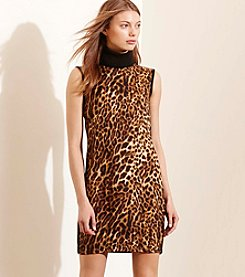 Lauren Ralph Lauren® Petites' Ocelot-Front Turtleneck Dress