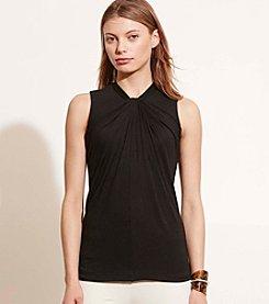 Lauren Ralph Lauren® Petites' Twist-Neckline Jersey Top
