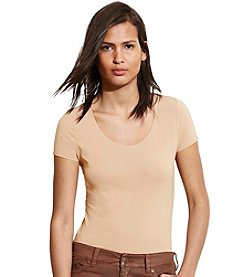 Lauren Ralph Lauren® Petites' Stretch Cotton Scoop Neck Tee