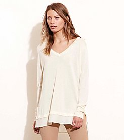 Lauren Ralph Lauren® Petites' Layered Silk-Blend Sweater