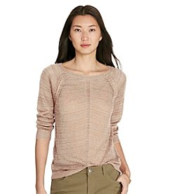 Lauren Ralph Lauren® Open-Knit Linen-Blend Sweater