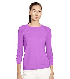 Lauren Ralph Lauren® Mesh-Sleeve Sweater