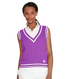 Lauren Ralph Lauren® Cable-Knit Cotton Sweater Vest