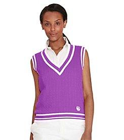 Lauren Ralph Lauren® Cable-Knit Cotton Sweater Vest