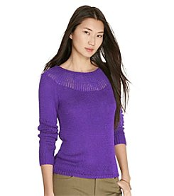 Lauren Ralph Lauren® Ribbed-Yoke Sweater