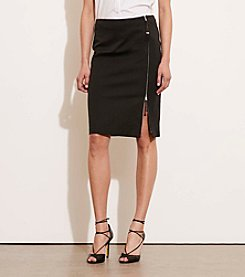 Lauren Ralph Lauren® Zip-Front Stretch Cotton Skirt