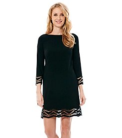 Laundry by Shelli Segal® Embellished Crochet Trim Dress
