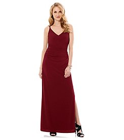 Laundry by Shelli Segal® V-Neck Spagetti Strap Long Gown Dress