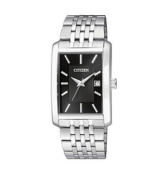 Citizen Men's Stainless Steel Rectangular Watch