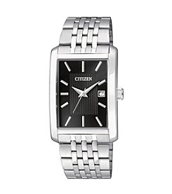 Citizen Men's Stainless Steel Rectangular Watch