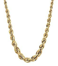 10K Yellow Gold Graduated Rope Chain