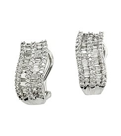 Effy® Classique Collection 0.97 Ct. T.W. Diamond Earrings In 14K White Gold