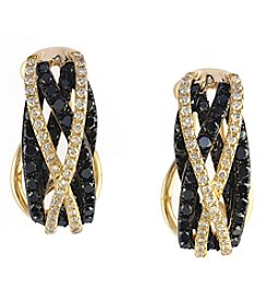 Effy® Caviar Collection 0.99 Ct. T.W. Diamond Earrings In 14k Yellow Gold