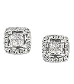 Effy&Reg; Bouquet Collection 0.52 Ct. T.W. Diamond Earrings 14K White Gold