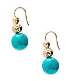 Lauren Ralph Lauren® Goldtone Capri Frenchwire Graduated Bead Linear Earrings