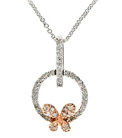 Effy® 0.21 Ct. T.W. Diamond Pendant In 14K Two Tone Gold
