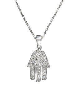 Effy® Pave Classica Collection 0.23 Ct. T.W. Diamond Pendant In 14K White Gold
