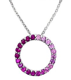 Effy® Pink Sapphire Pendant In 14k White Gold
