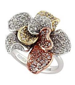 Effy® Trio Collection 1.57 Ct. T.W. Diamond Ring In Tri Color 14K Gold