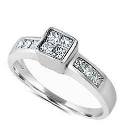 Effy® 0.59 Ct. T.W. Diamond Ring In 14K White Gold