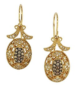 Effy® Espresso Collection 0.46 Ct. T.W. Diamond Earrings In 14K Yellow Gold