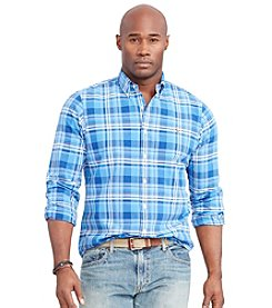 Polo Ralph Lauren® Men's Big & Tall Long Sleeve Oxford Plaid Button Down Shirt