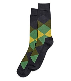 HUE® Men's Color Blocked Dress Socks