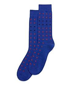 HUE® Men's Mini Dot Dress Socks