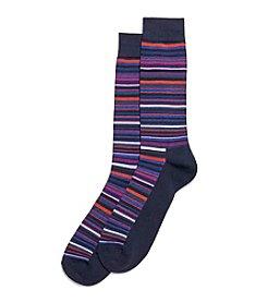 HUE® Men's Multi Stripe Dress Socks