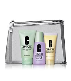 Clinique 3-Step Kit For Dry To Dry Combination Skin (Type 1/2)