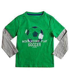 Chaps® Boys' 2T-7 Long Sleeve Layered Move Score Play Soccer Tee