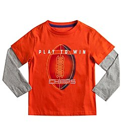 Chaps® Boys' 2T-7 Long Sleeve Layered Play To Win Tee