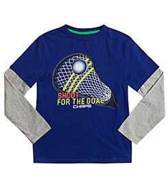 Chaps® Boys' 2T-7 Long Sleeve Layered Shoot For The Goal Tee