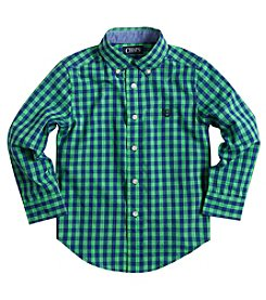 Chaps® Boys' 2T-7 Long Sleeve Checked Button Down Shirt