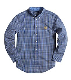 Chaps® Boys' 8-20 Long Sleeve Checked Button Down Shirt