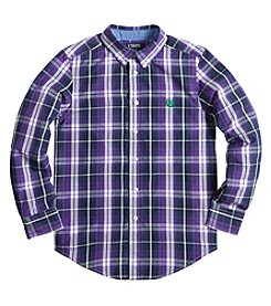 Chaps® Boys' 8-20 Long Sleeve Plaid Button Down Shirt