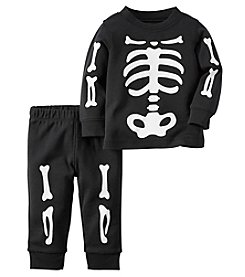 Carter's® Baby Boys 2-Piece Skeleton Tee And Pants Set