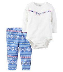 Carter's® Baby Girls' 2-Piece Geo Bodysuit And Leggings Set
